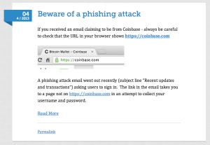 The Coinbase Blog at 9.27.16 AM
